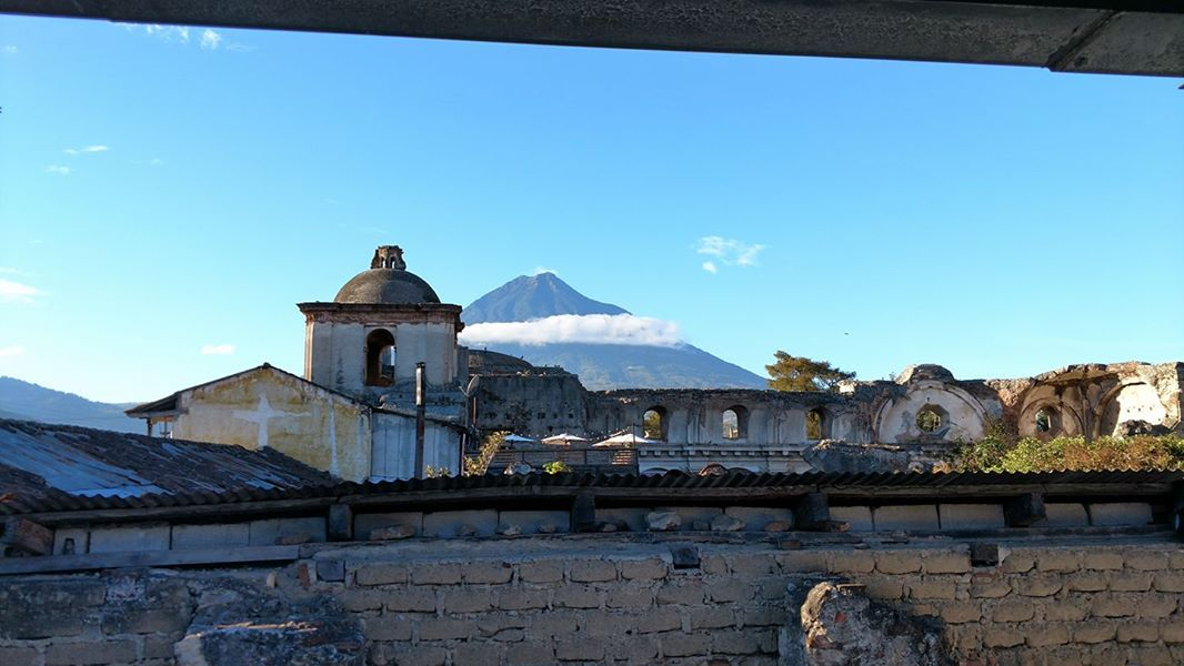 Views of volcanos from hotel